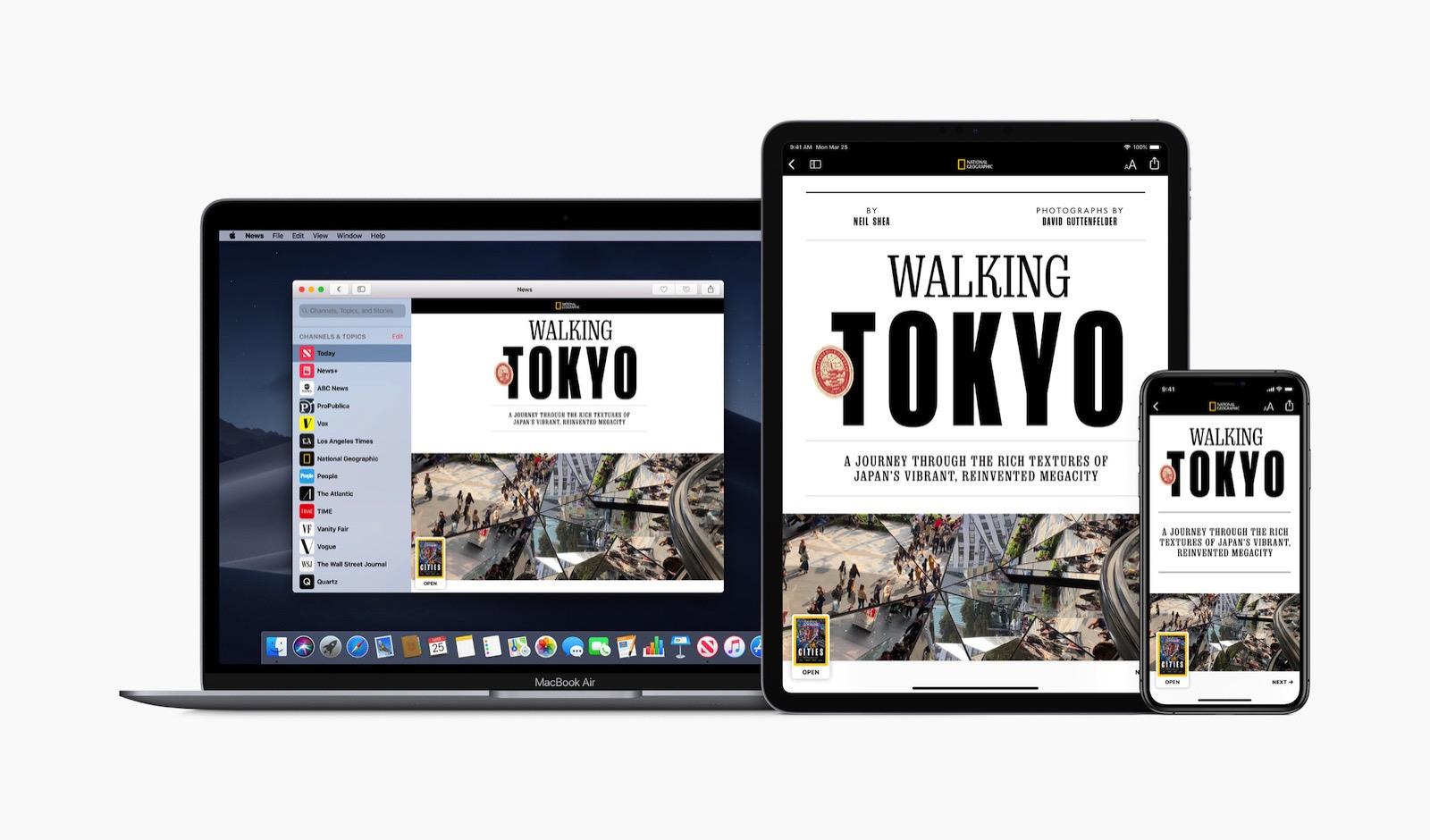 Apple news plus natgeo iphone ipad macbook pro screen 03252019