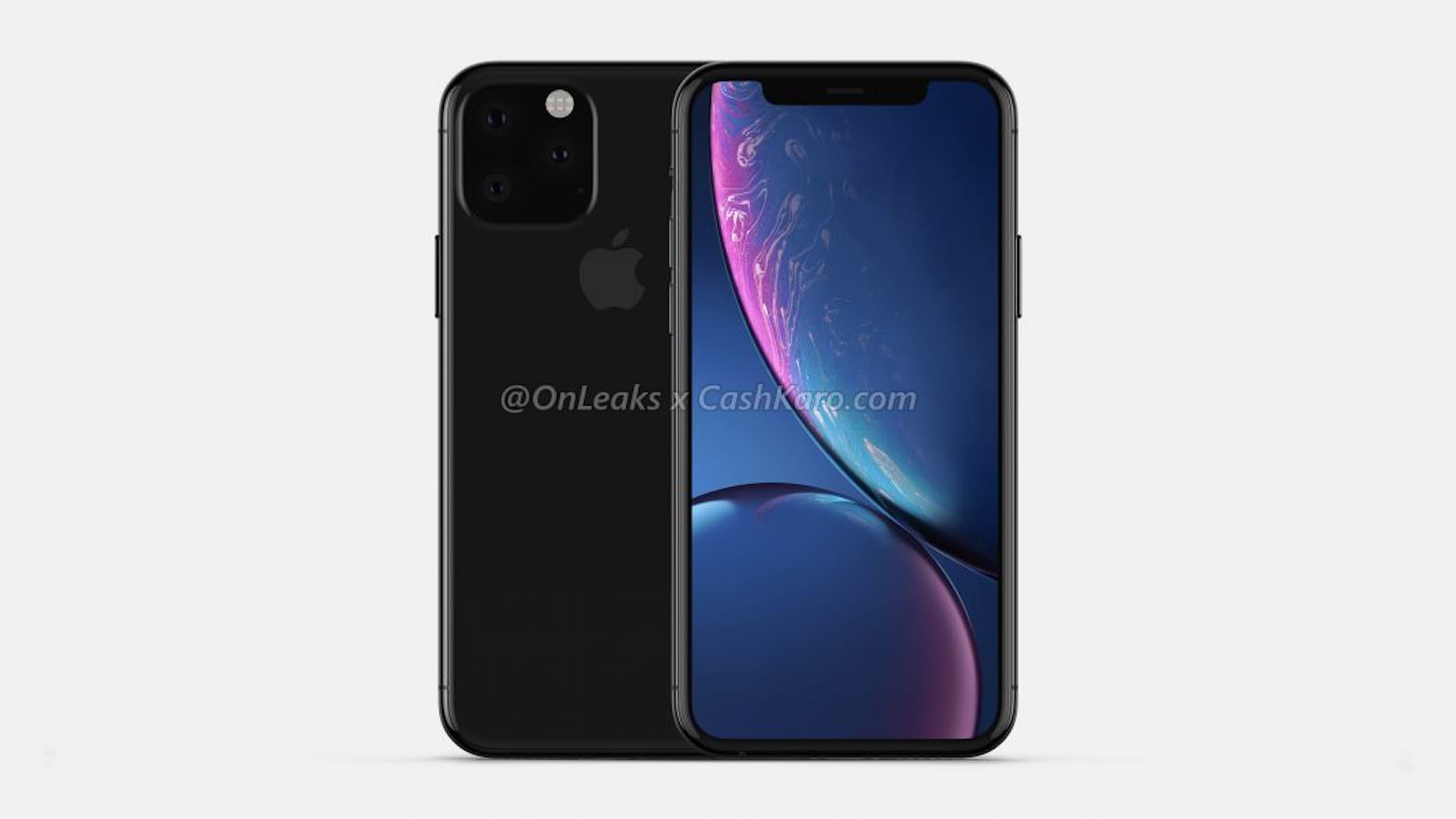 Triple Lens Camera unit for 2019 iphone rendering 1