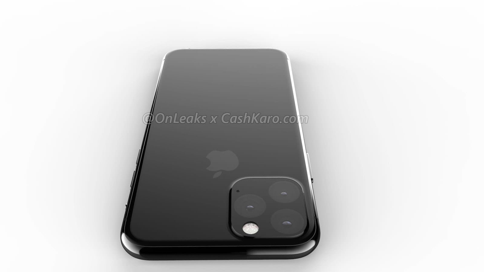 Triple Lens Camera unit for 2019 iphone rendering 2