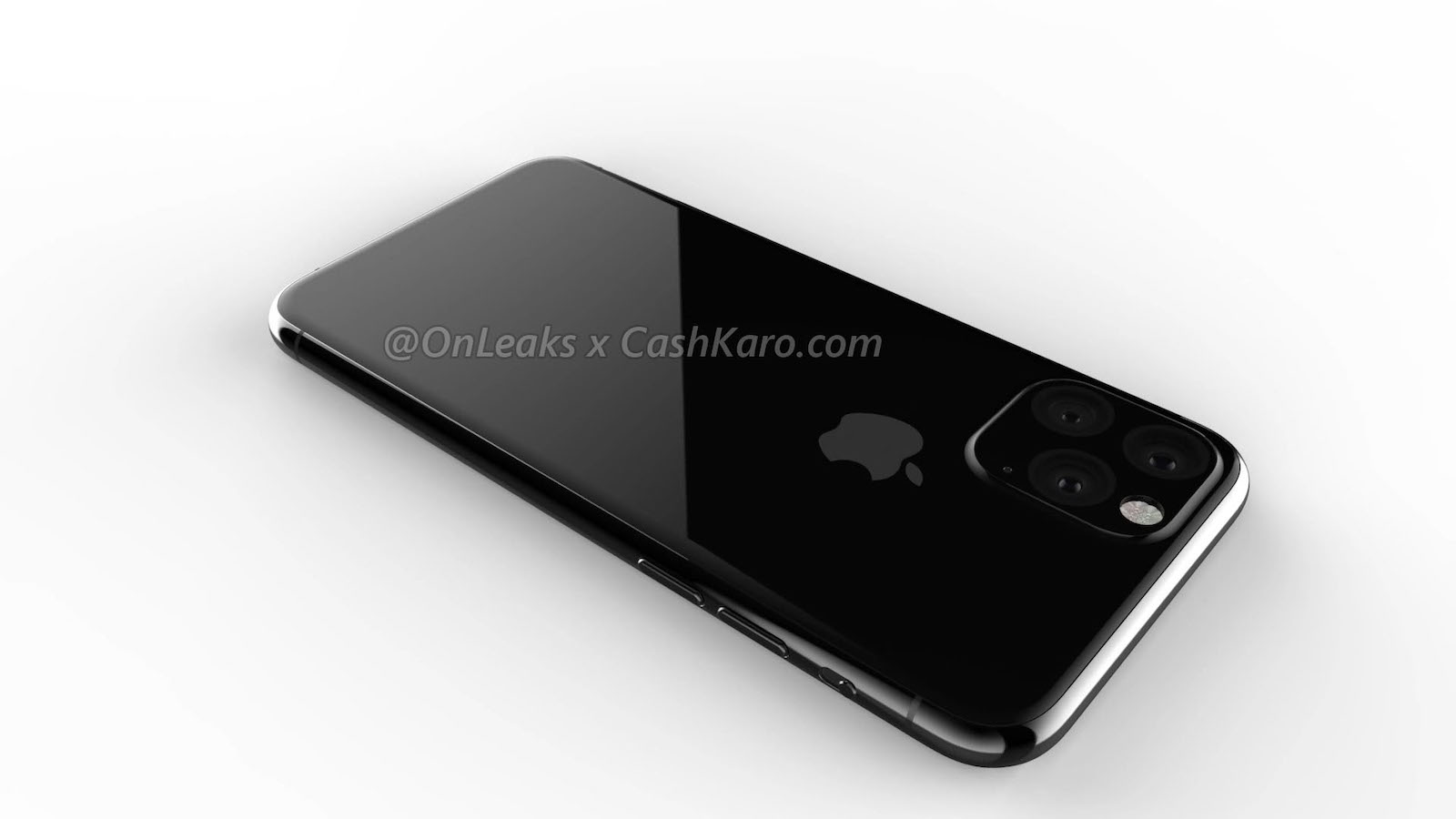 Triple Lens Camera unit for 2019 iphone rendering 3