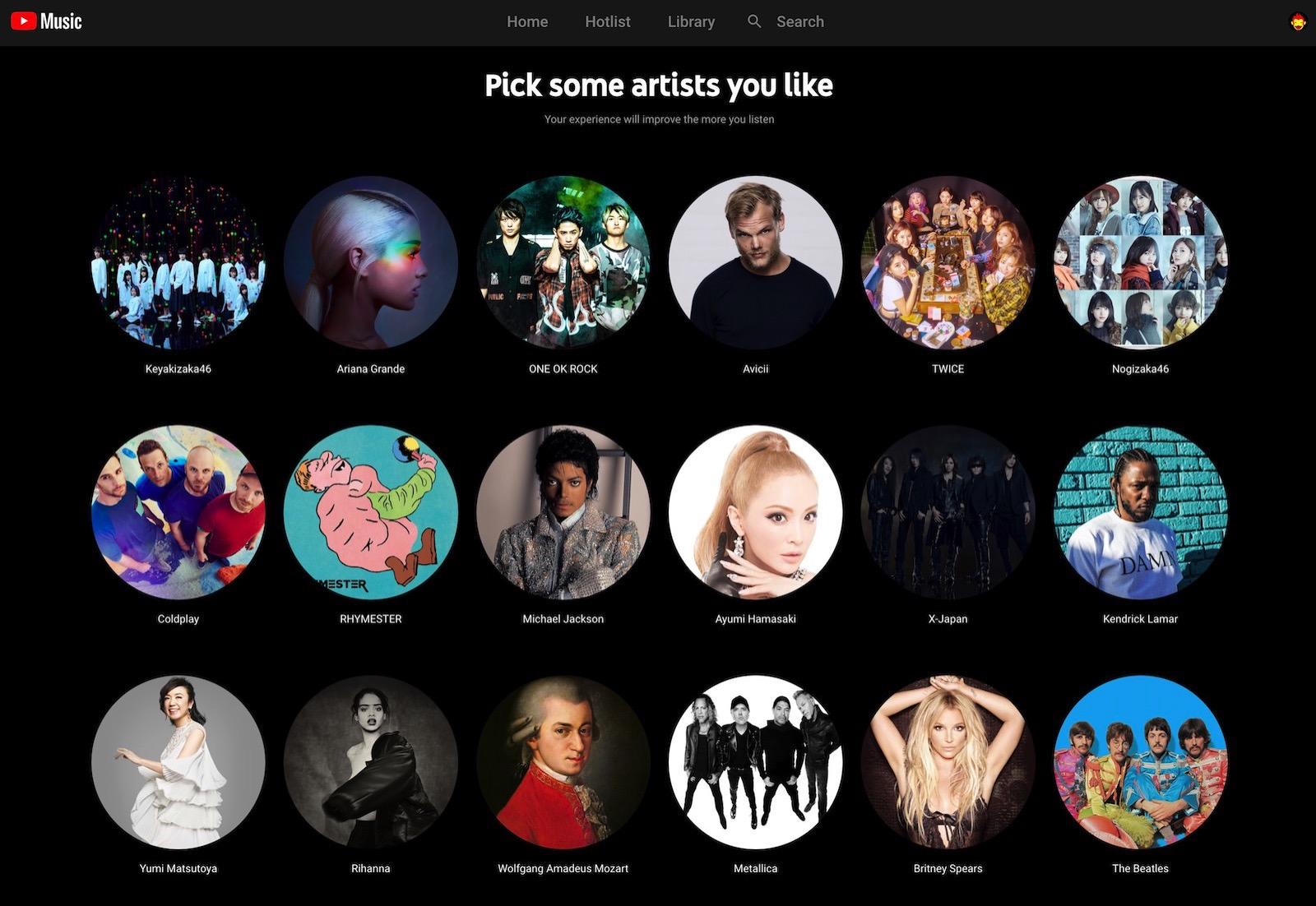 YouTube Music Taste Profile