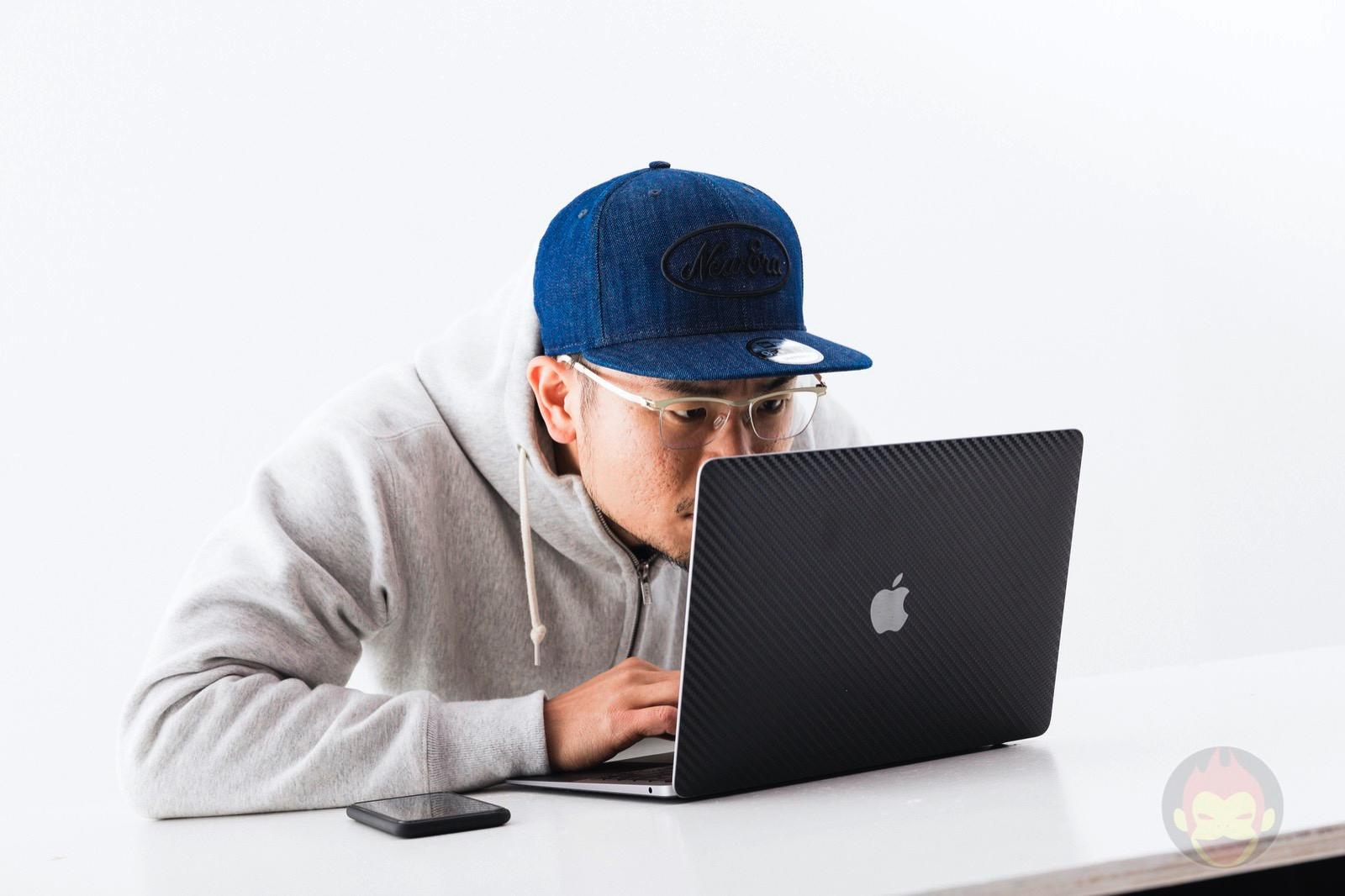 Looking at macbook air display