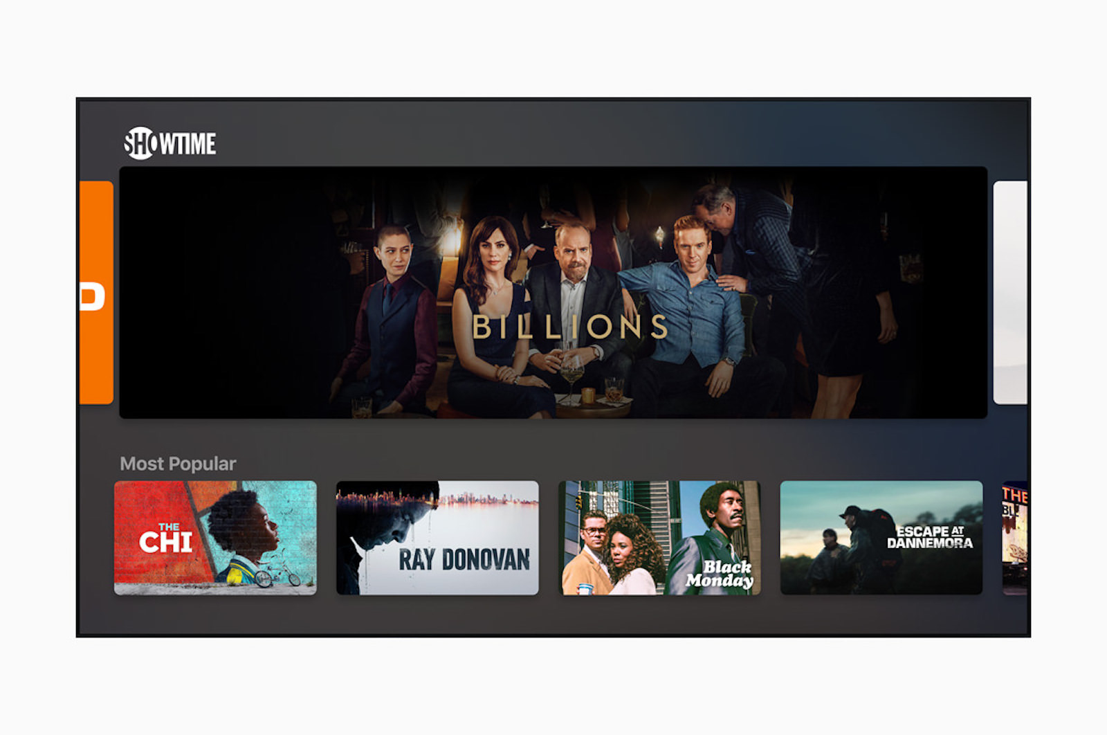 Apple tv showtime screen 05102019