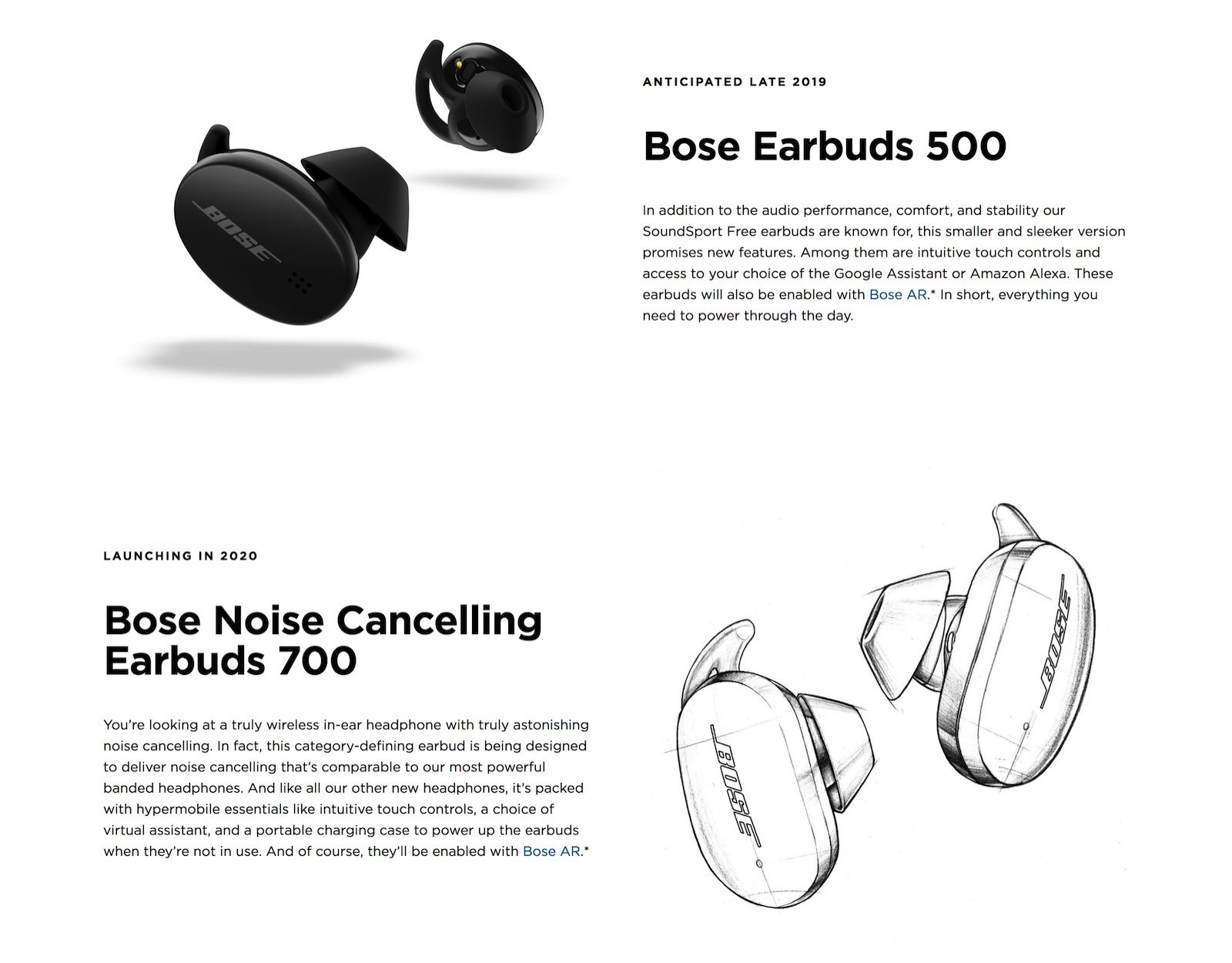 Bose Earbuds with noise cancelling