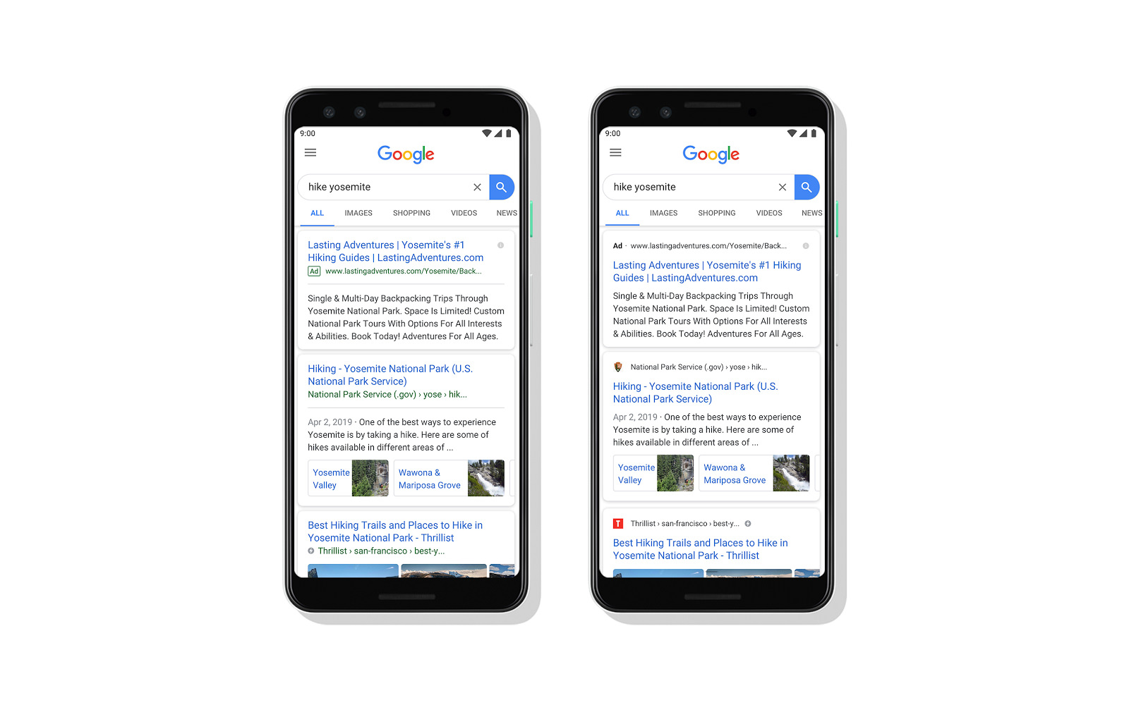 Google New Design for Mobile