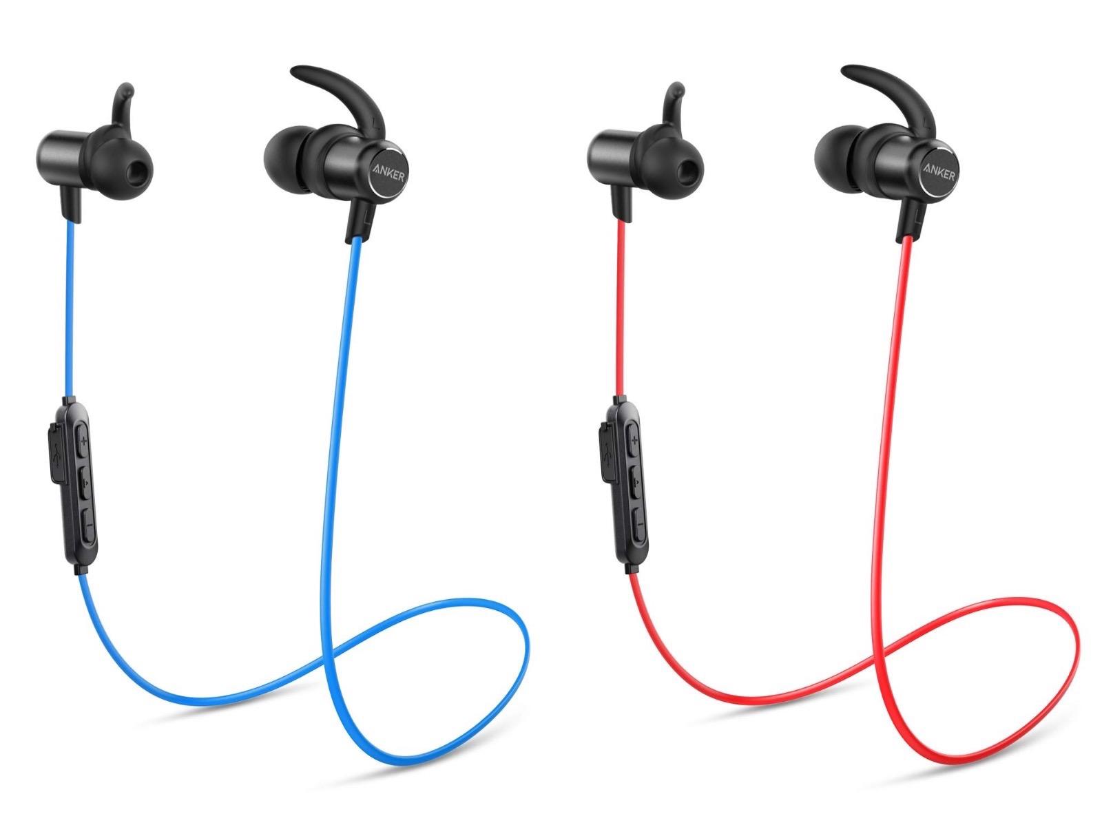 Anker SoundBuds Slim 2ndGen Red and Blue