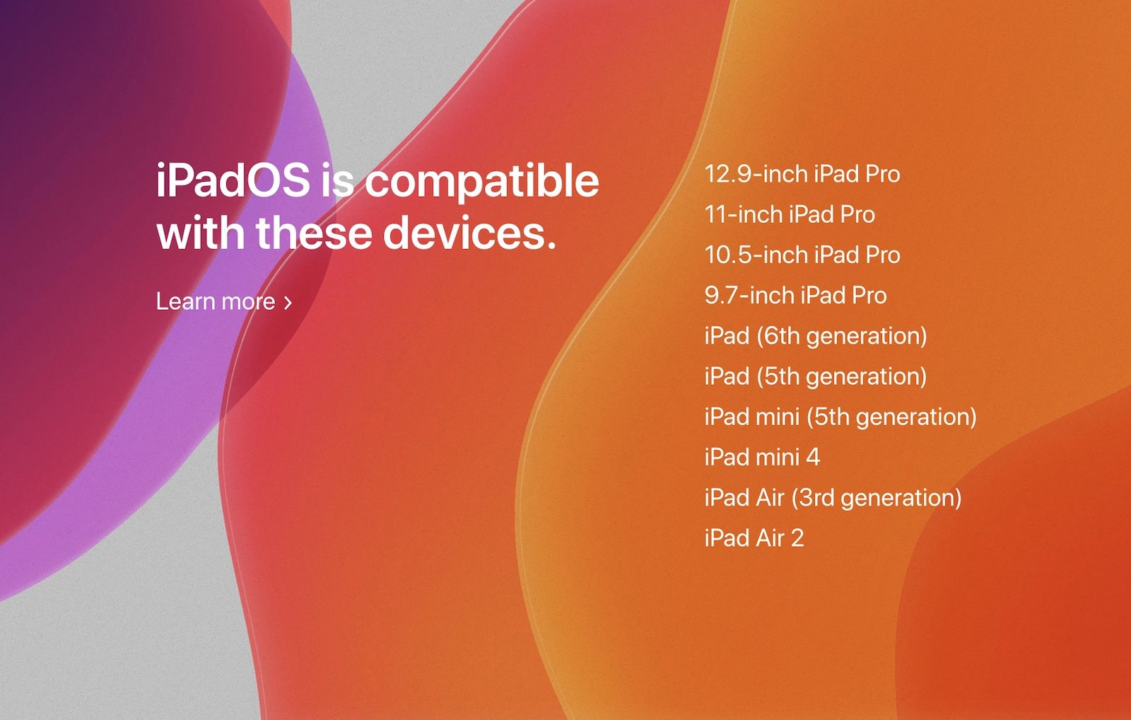 IpadOS compatible devices