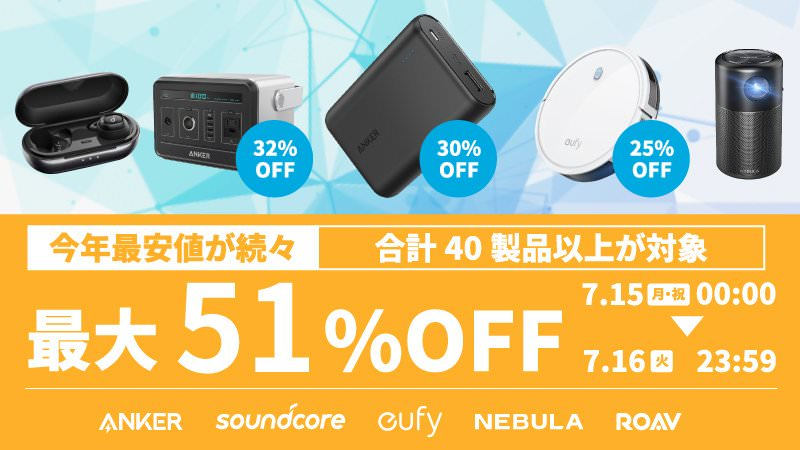 Anker Prime Day 2019 51percent off sale