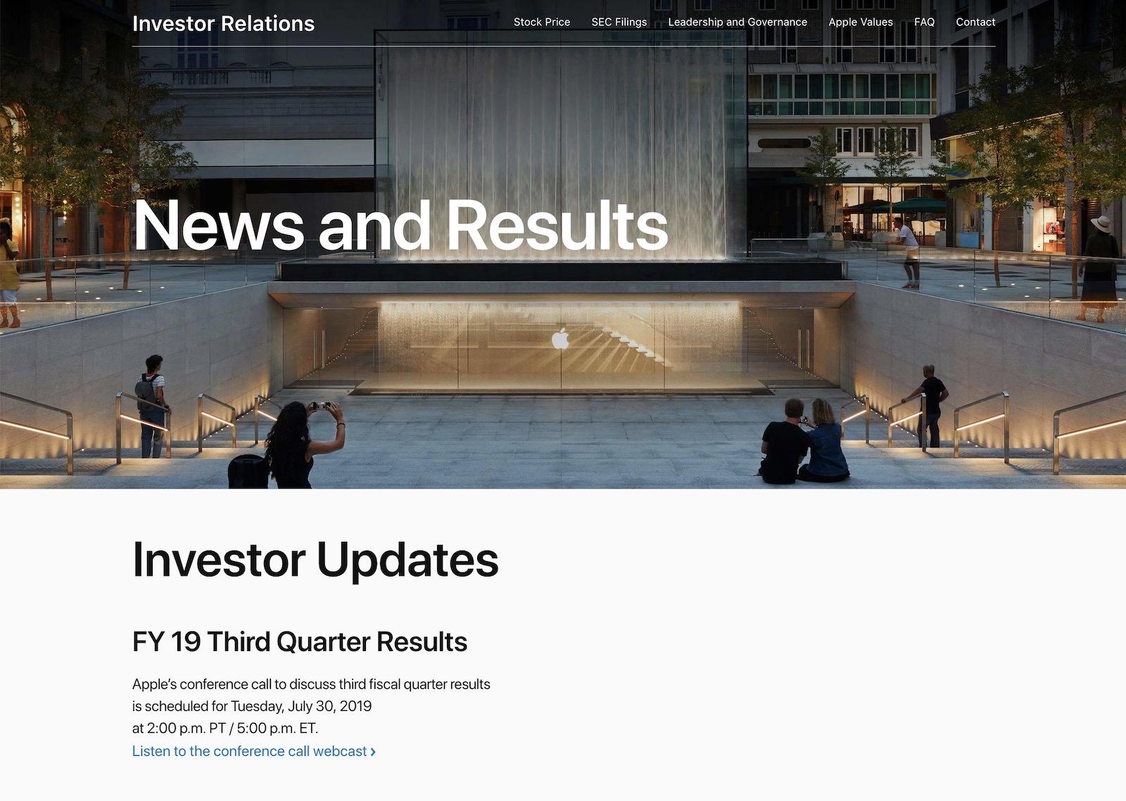 Investor Updates 2019 3rd quarter