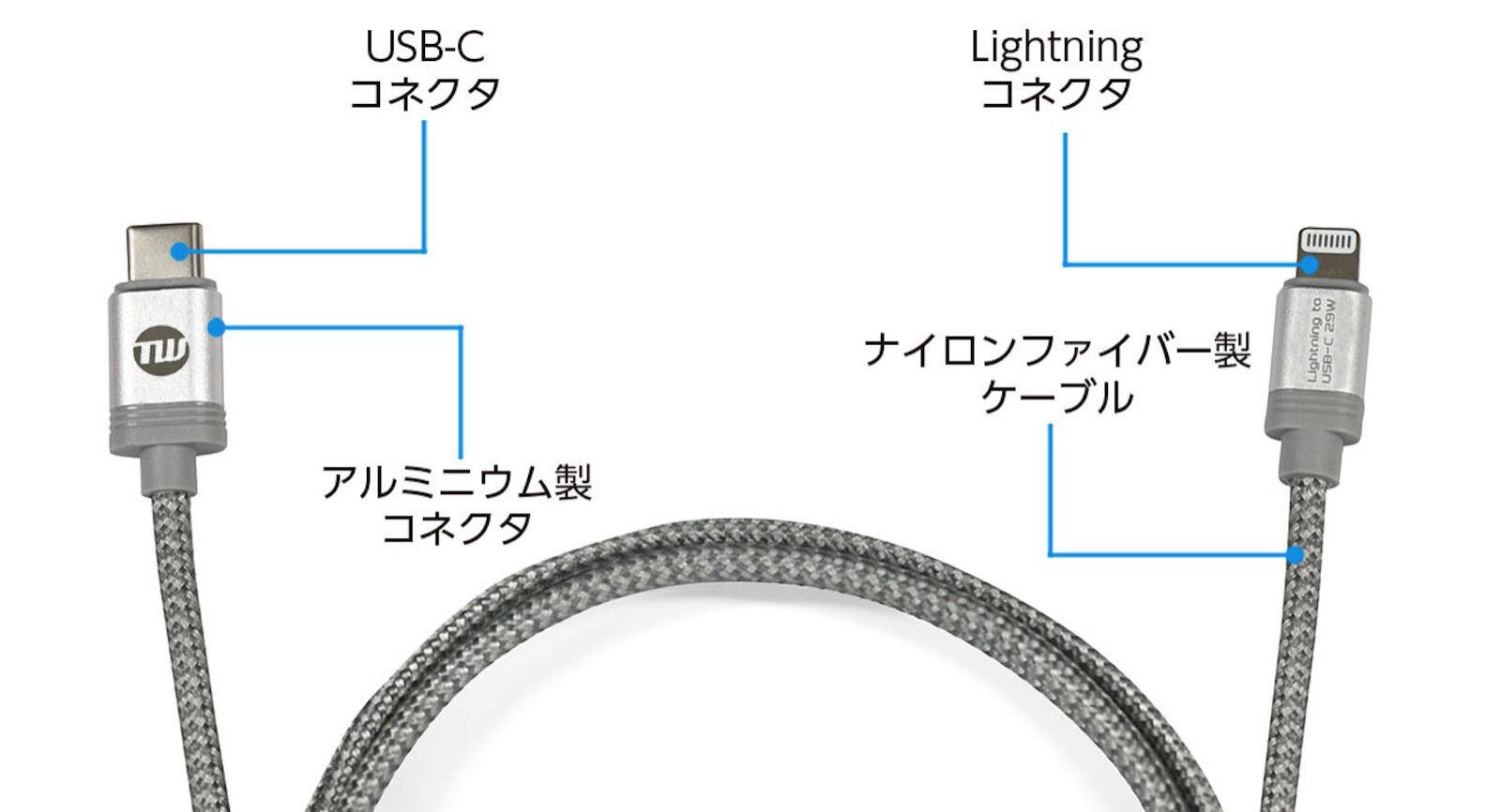 TUNEWEAR TUNEWIRE C L Lightning USBC Cable2