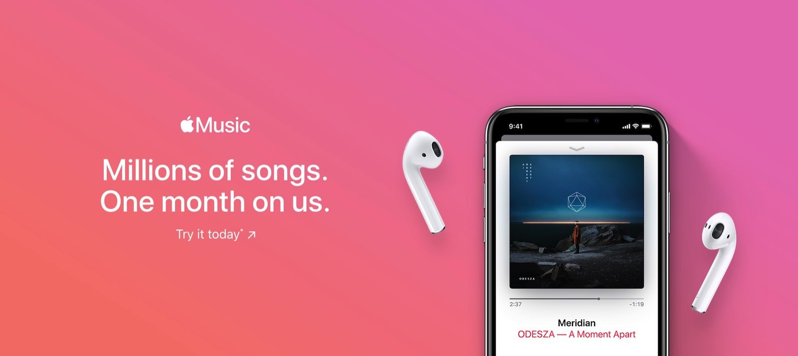 Apple music trial 1month us