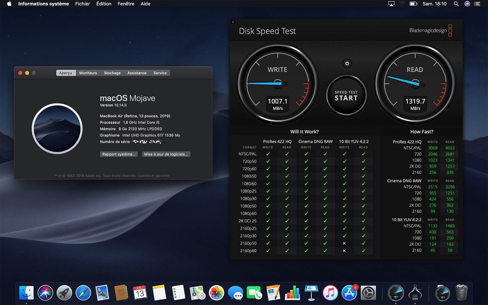 Ssd mba 2019 speed test 256