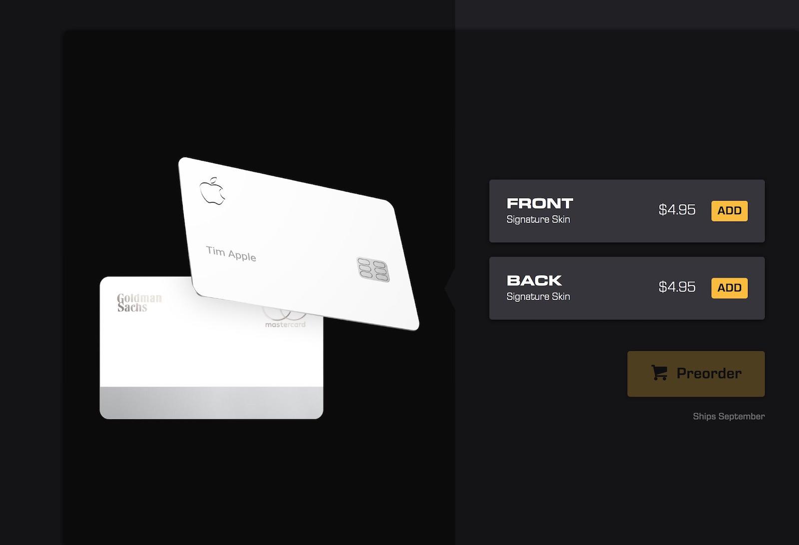 Apple Card dbrand skin