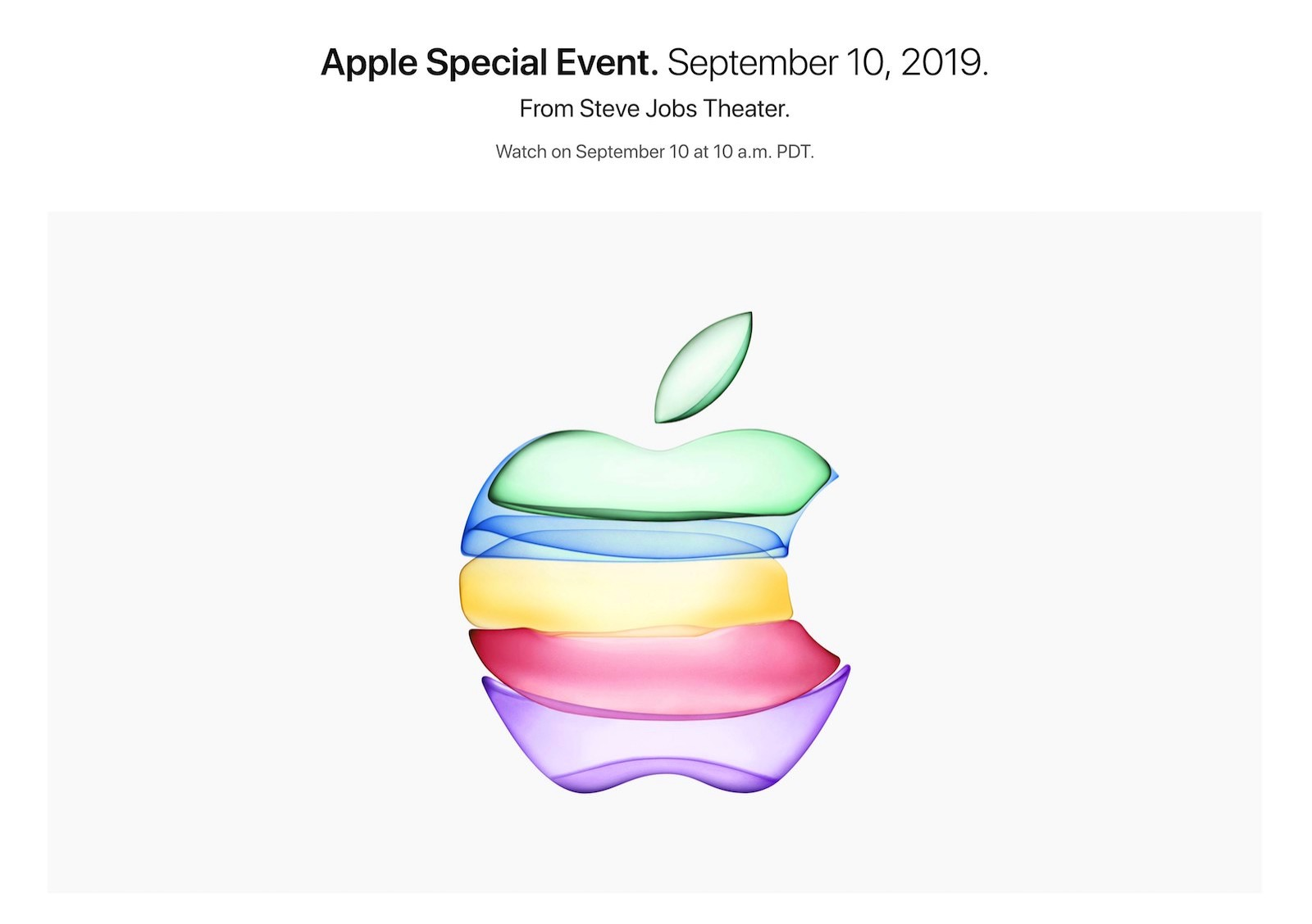 Apple Special Event Live Streaming