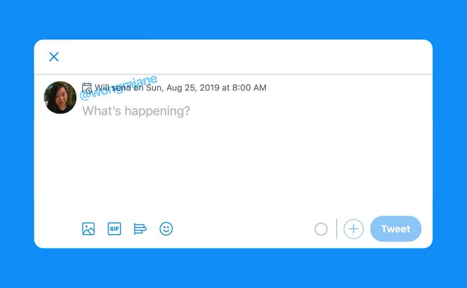 Scheduled Tweet feature on twitter