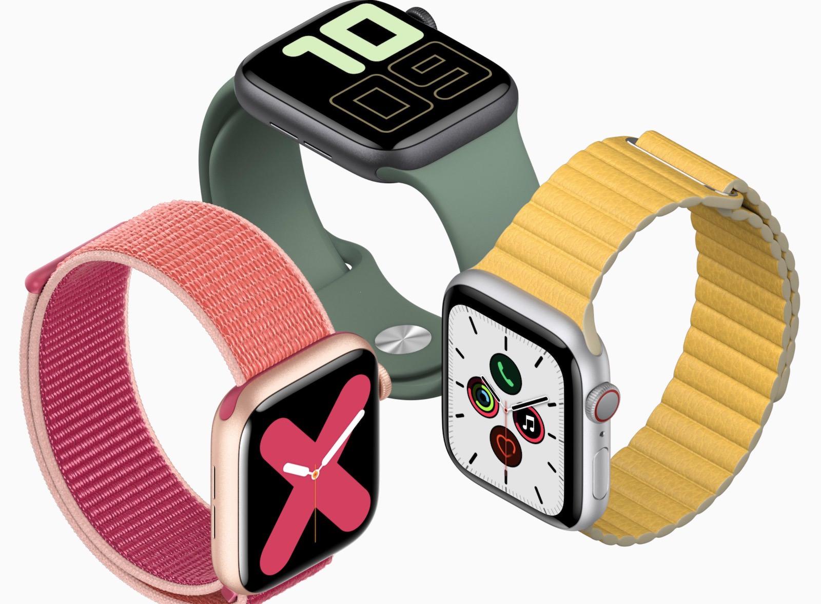 Apple Watch Series 5 top