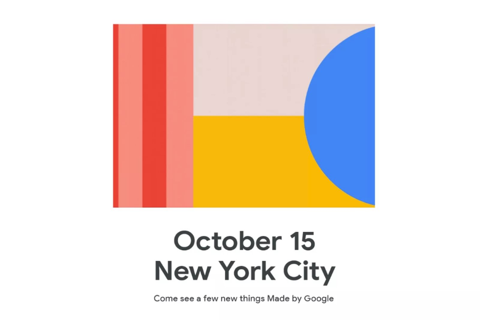 Google Special Event Goes live on oct 15