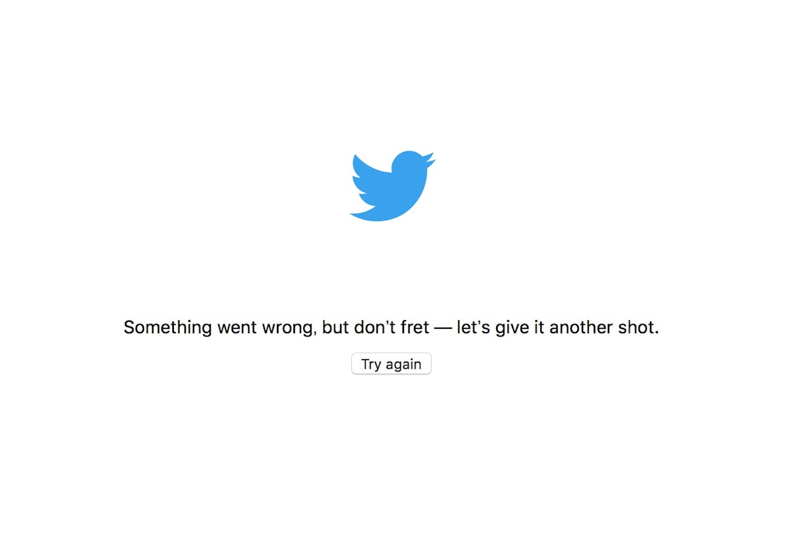 Twitter is still down