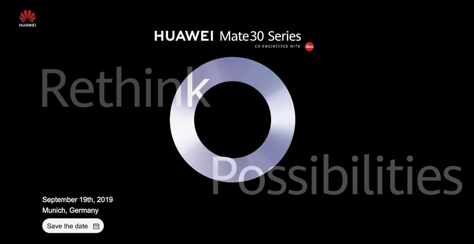 Huawei mate30 event
