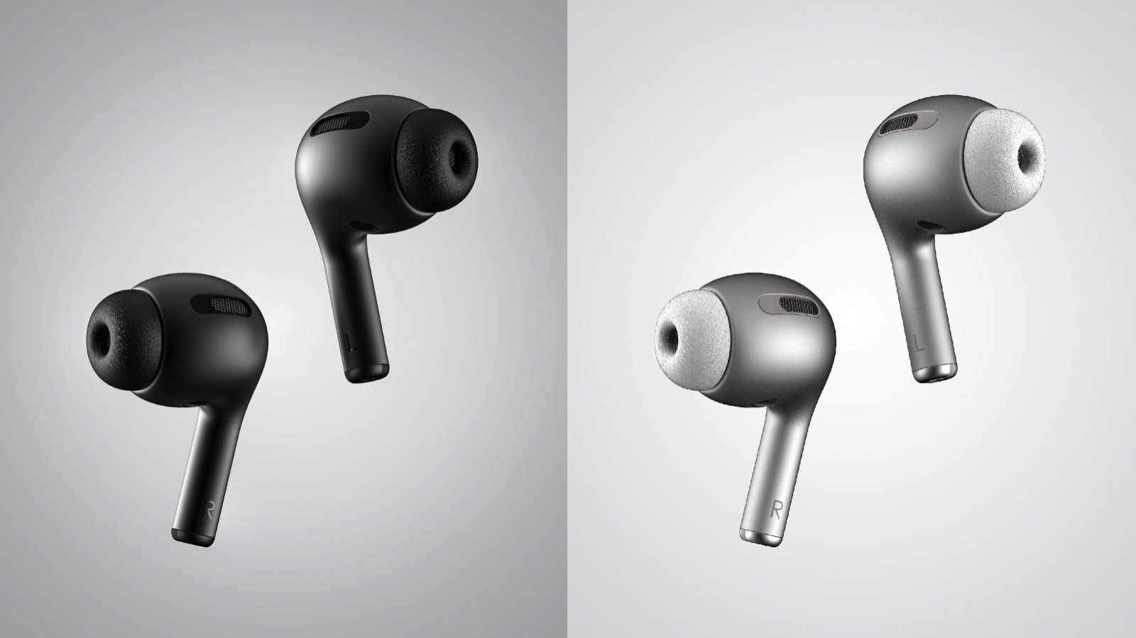 AirPods3 black model concept image