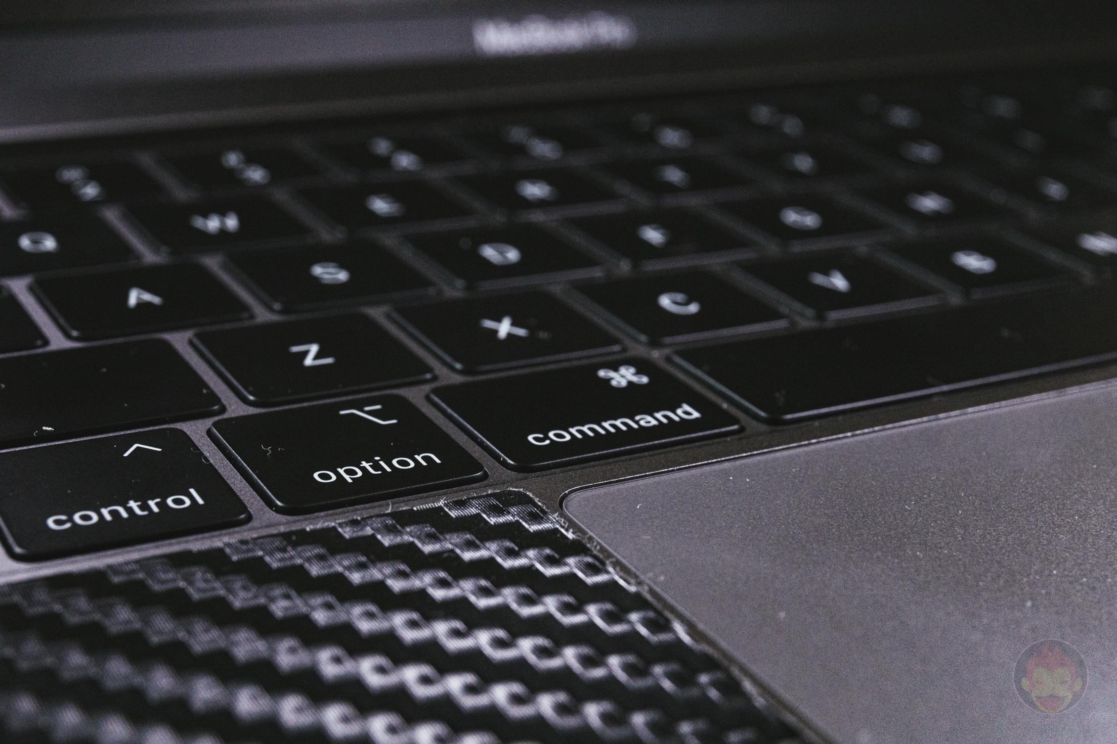 MacBook Pro(2019) 15インチのキーボード