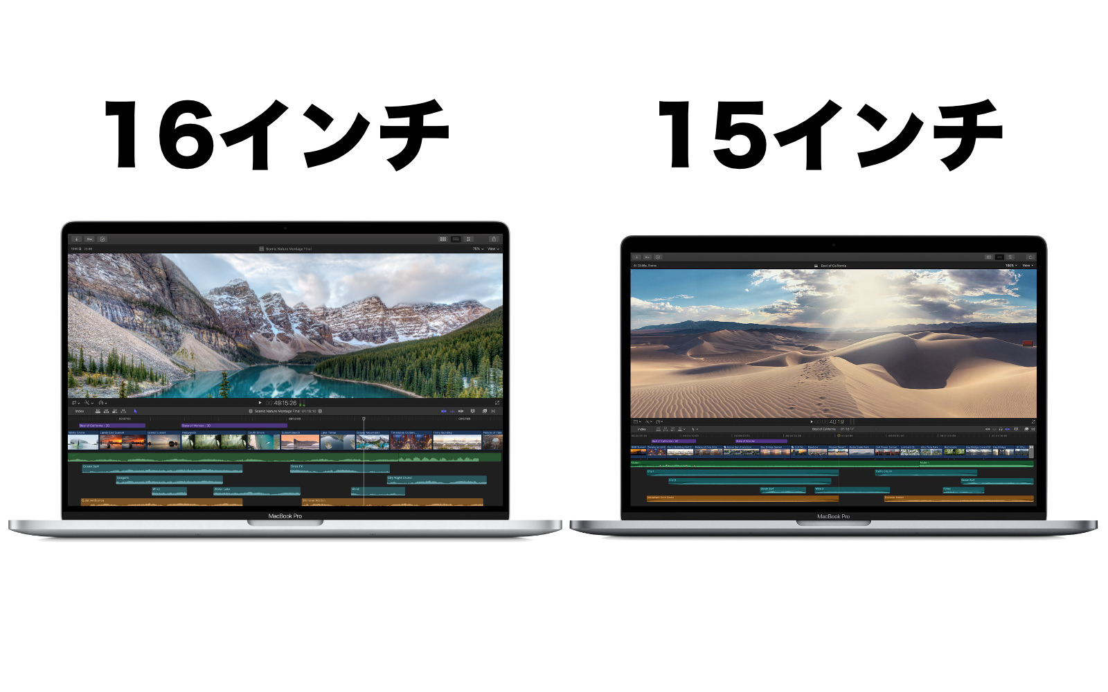 MacBook Pro 2019 16 15 difference