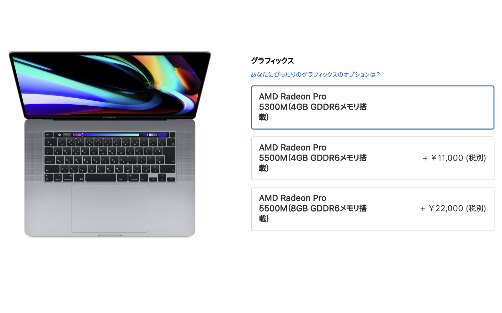 MacBookPro 16inch graphics 5300m or 5500m