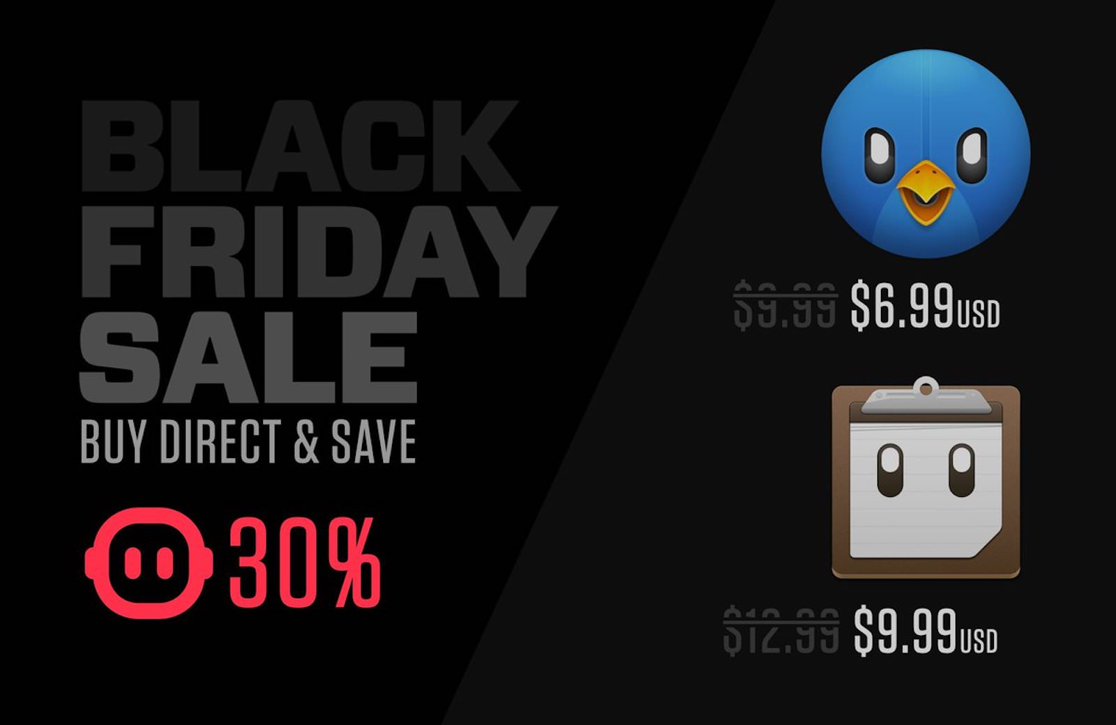 Tapbots black friday sale
