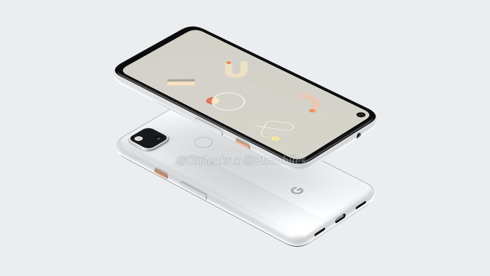 Google Pixel 4a 5K render 2