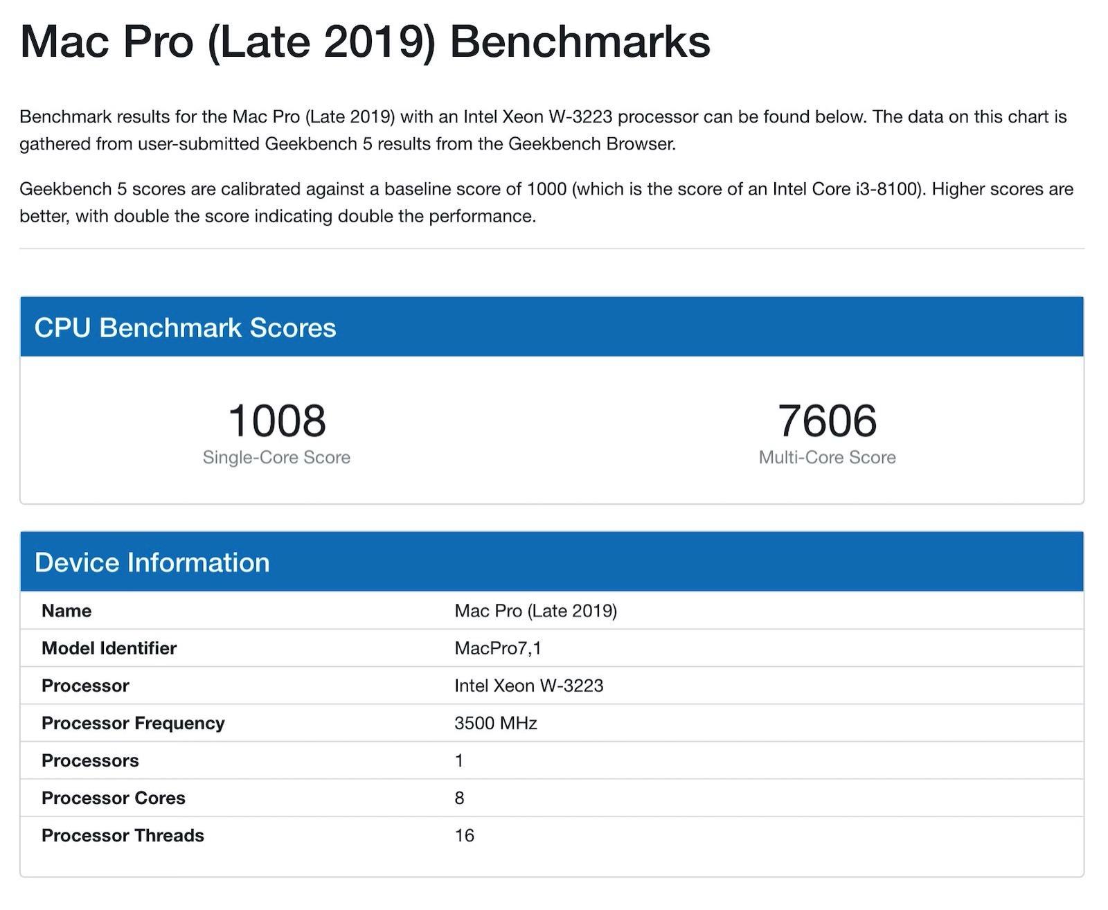 Mac Pro 2019 8core