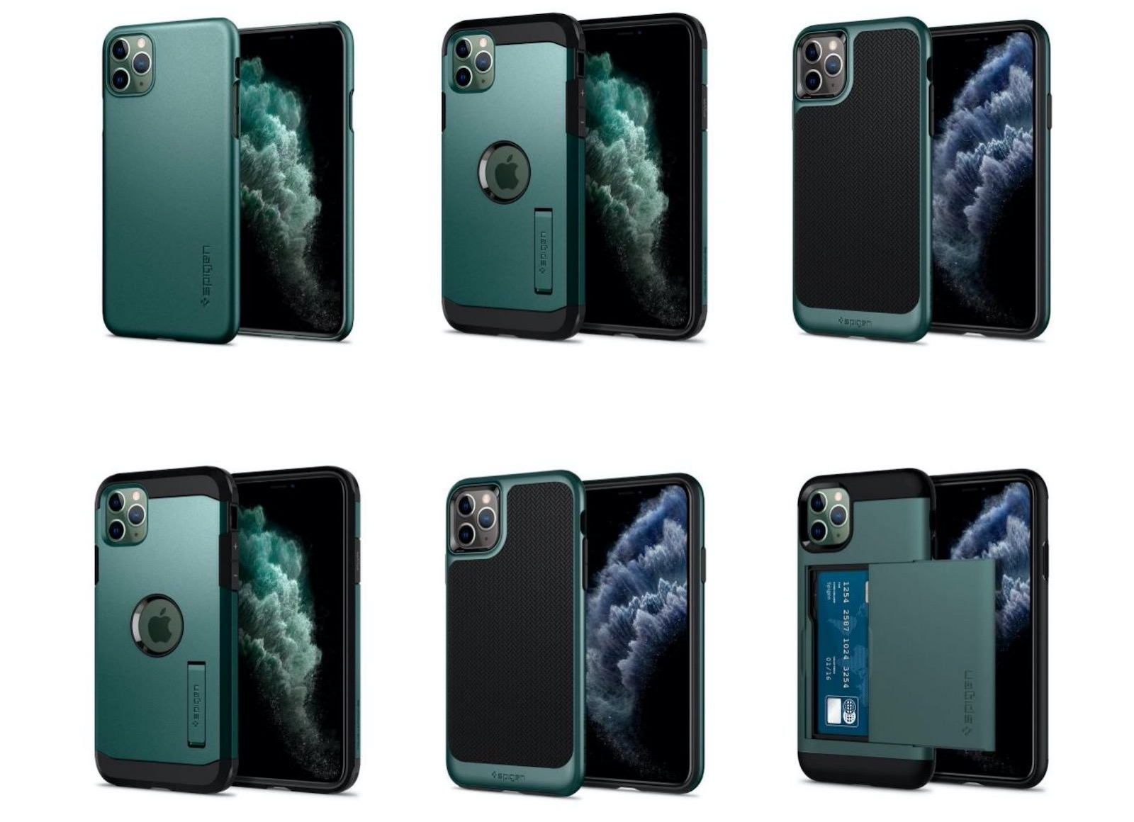 Spigen green collection