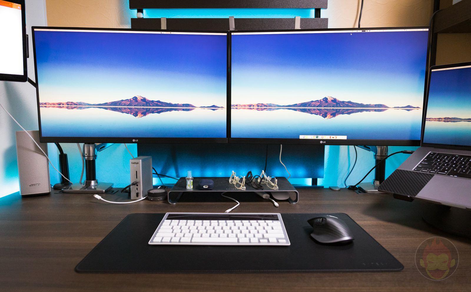 Macのあるデュアルディスプレイのセットアップ