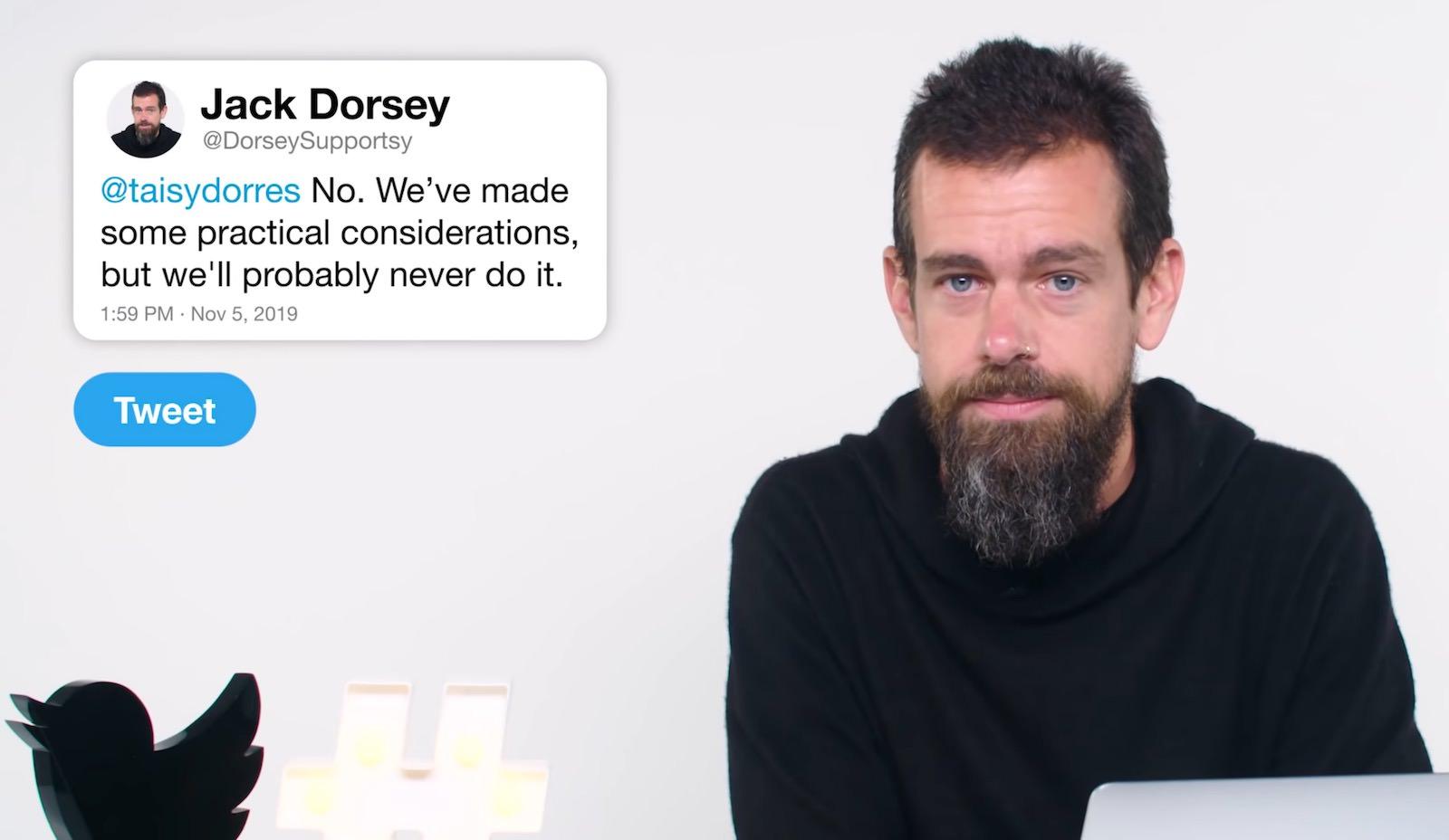 Twitter Jack Dorsey denies a edit button 2