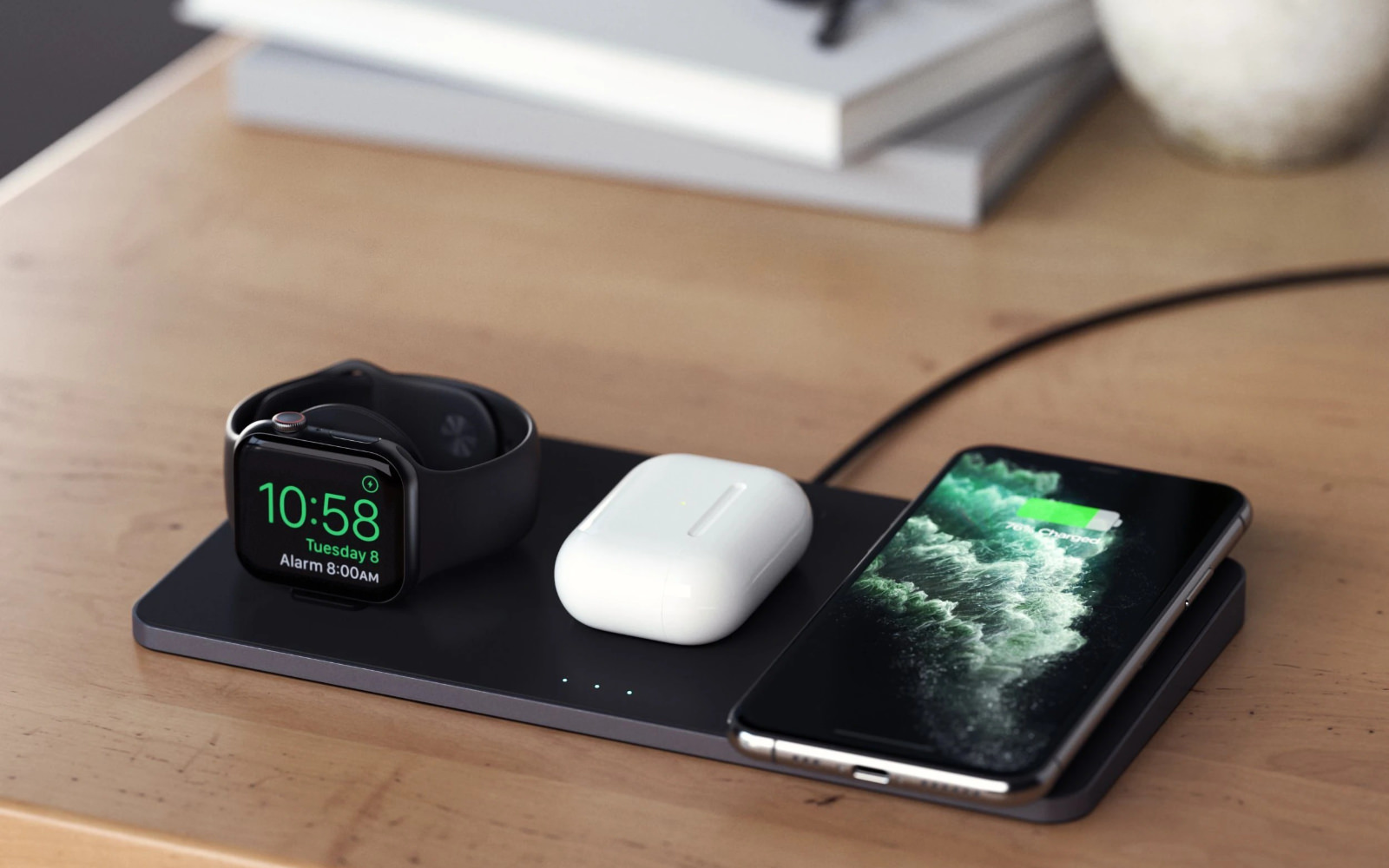 Trio wireless charging pad charging stations satechi