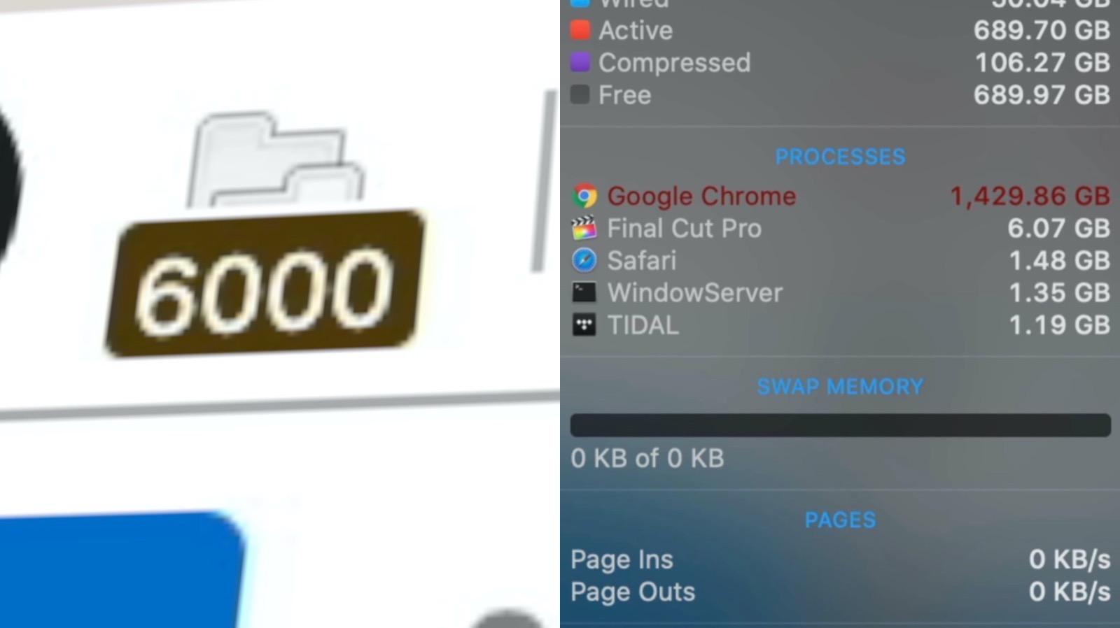 MacPro vs 1 5GB of RAM