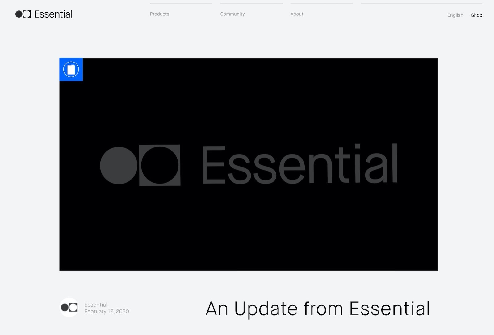 Essential is shutting down