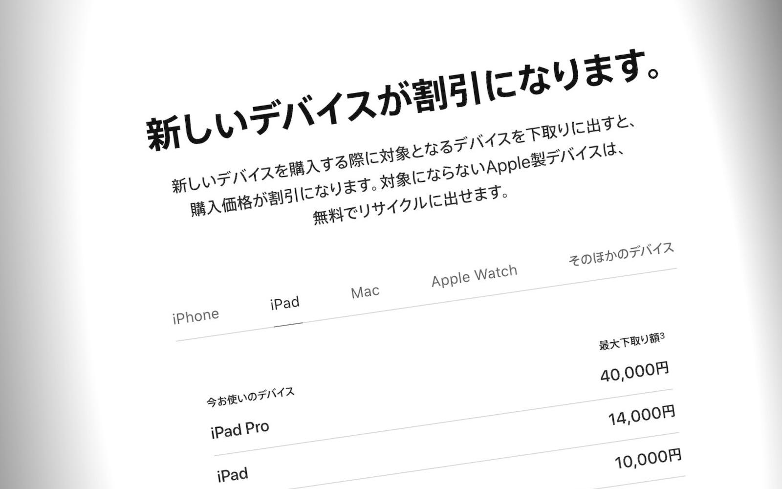 Apple tradein campaign