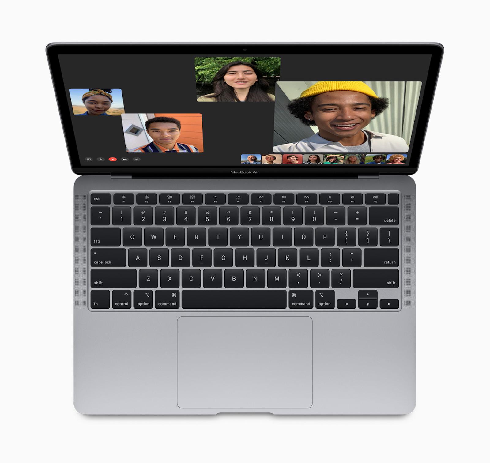 Apple new macbook air facetime screen 03182020