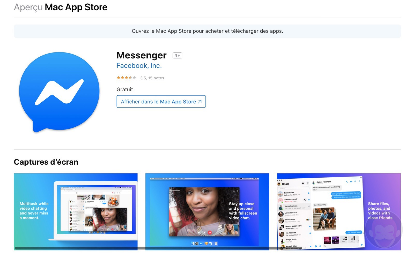 Facebook Mesenger for Mac 01