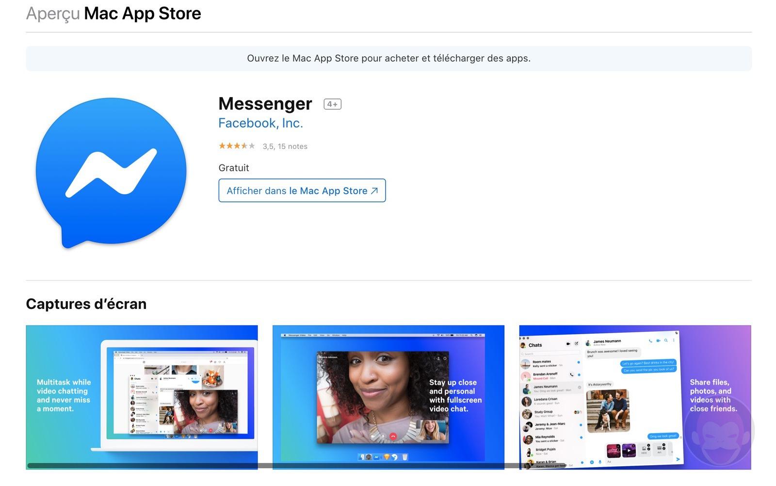 Facebook Mesenger for Mac 01