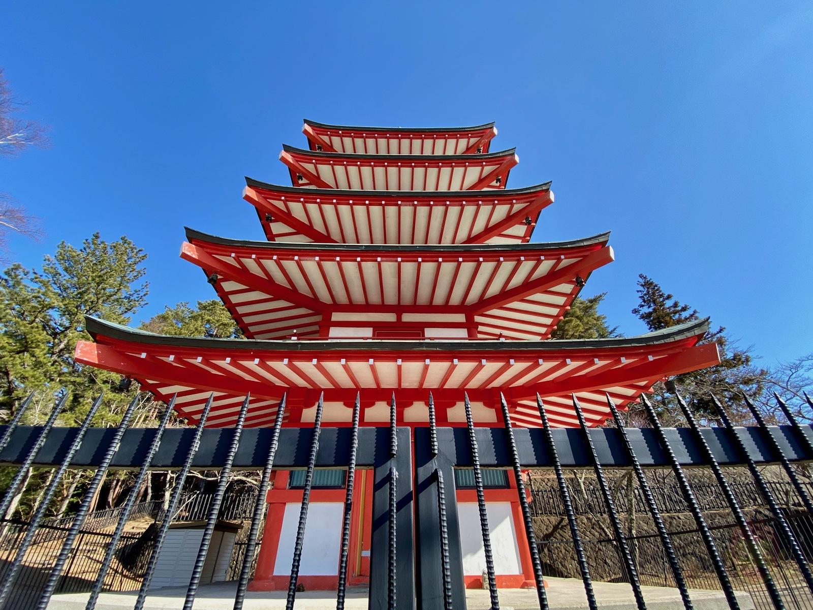 Yamanashi Arakurayamasangen Park Chureito 28
