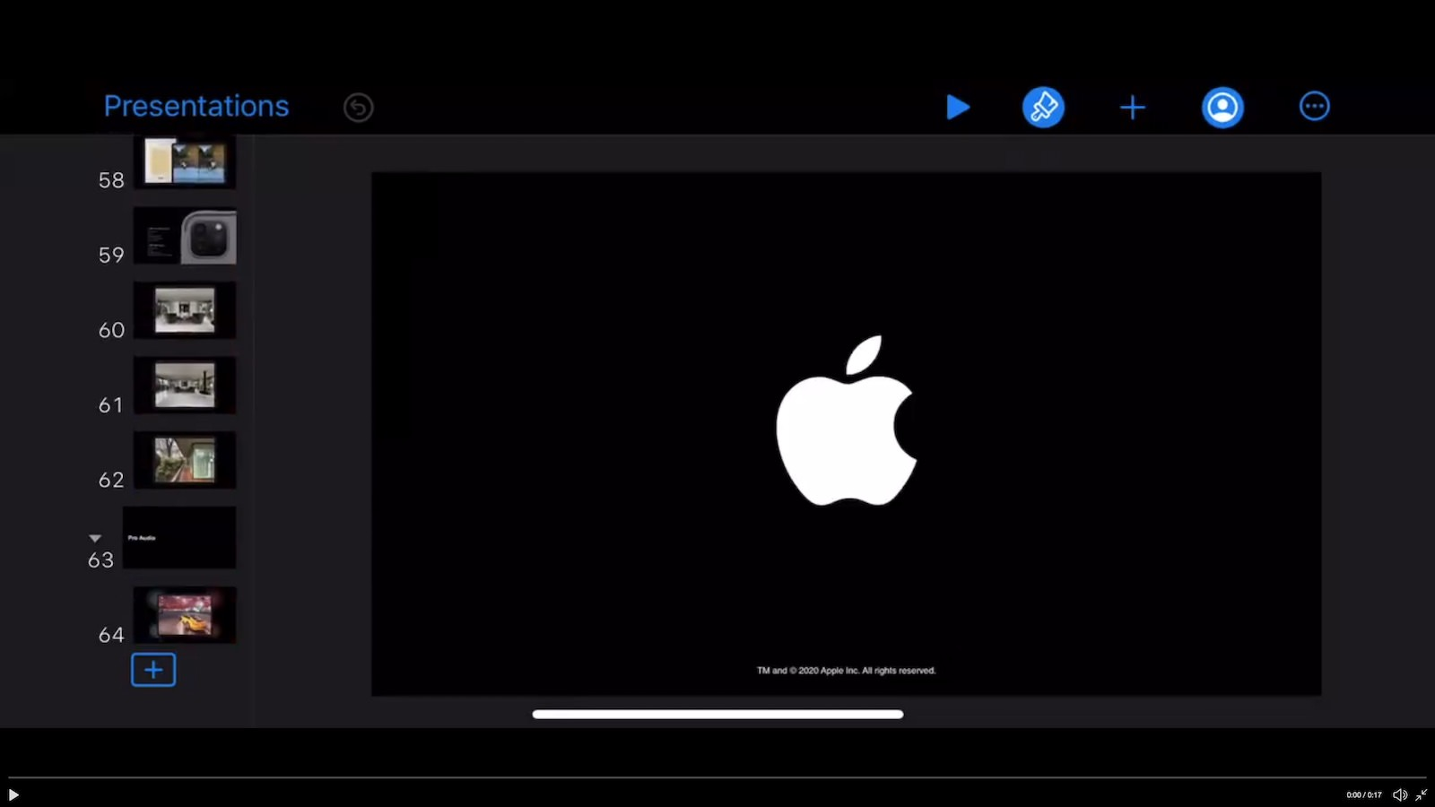 Apple march event presentation files