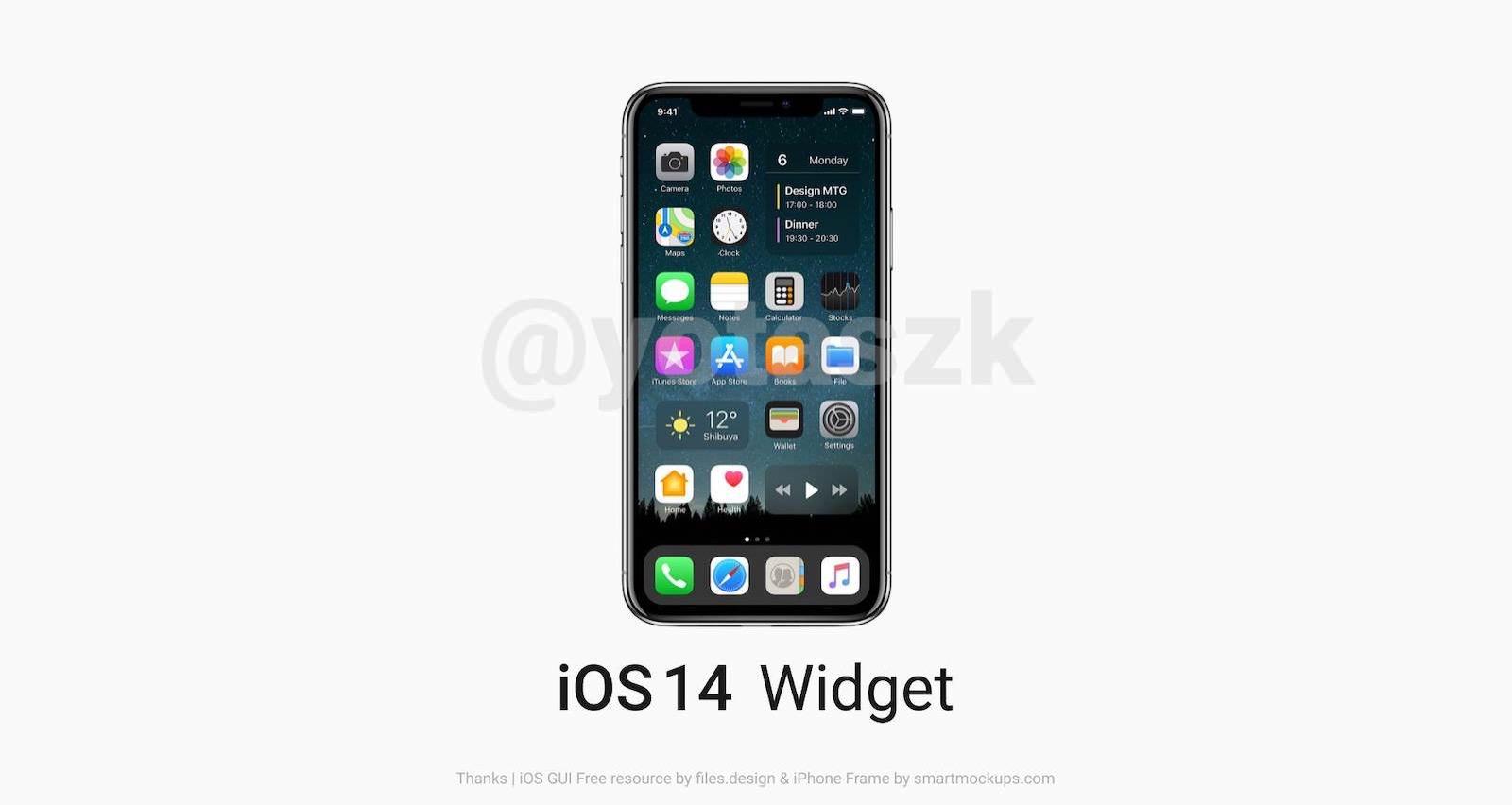 IOS14 widget concept image by yotasuzuki final