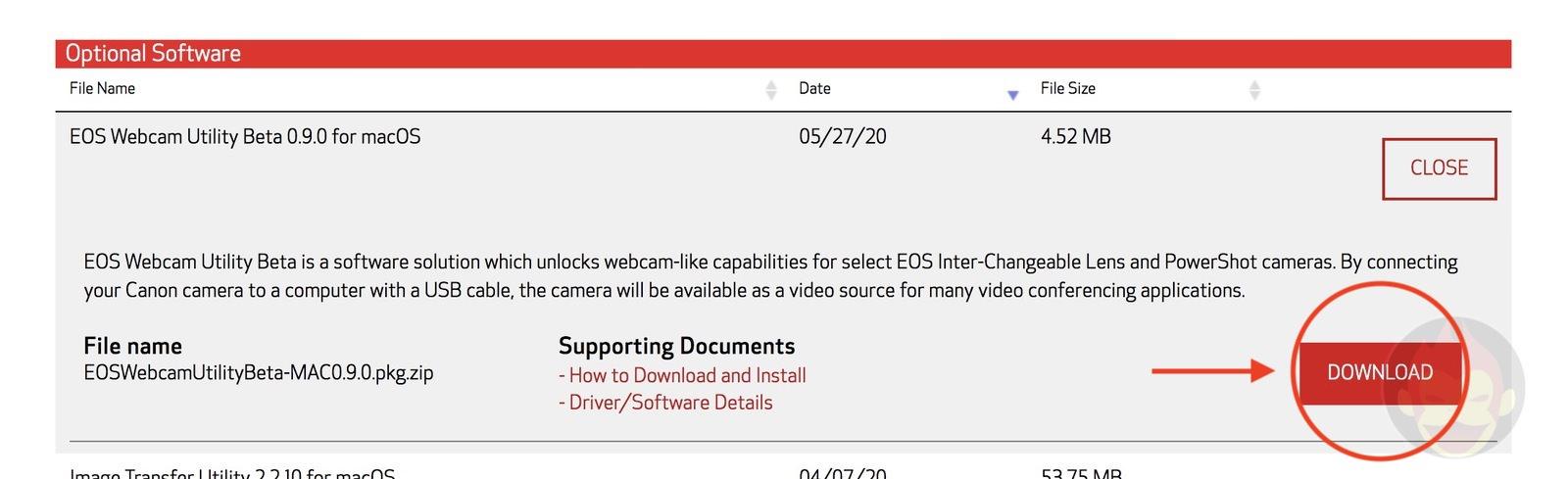 EOS Camera Utility Beta for Mac macOS 03