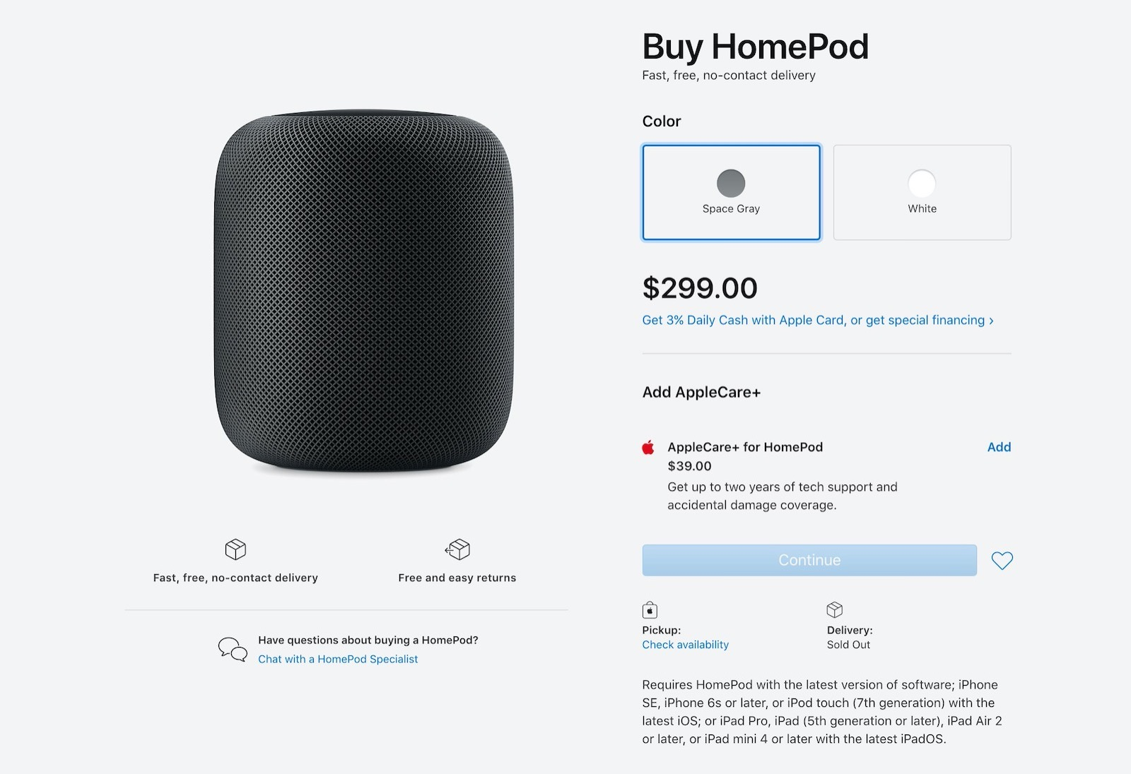 Apple store us homepod out of sale