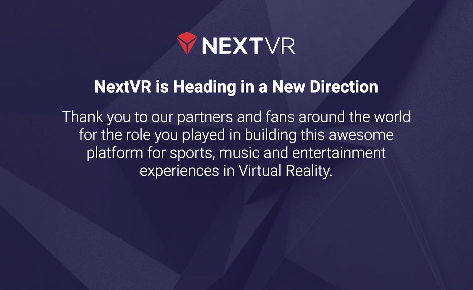 Next vr bought by apple
