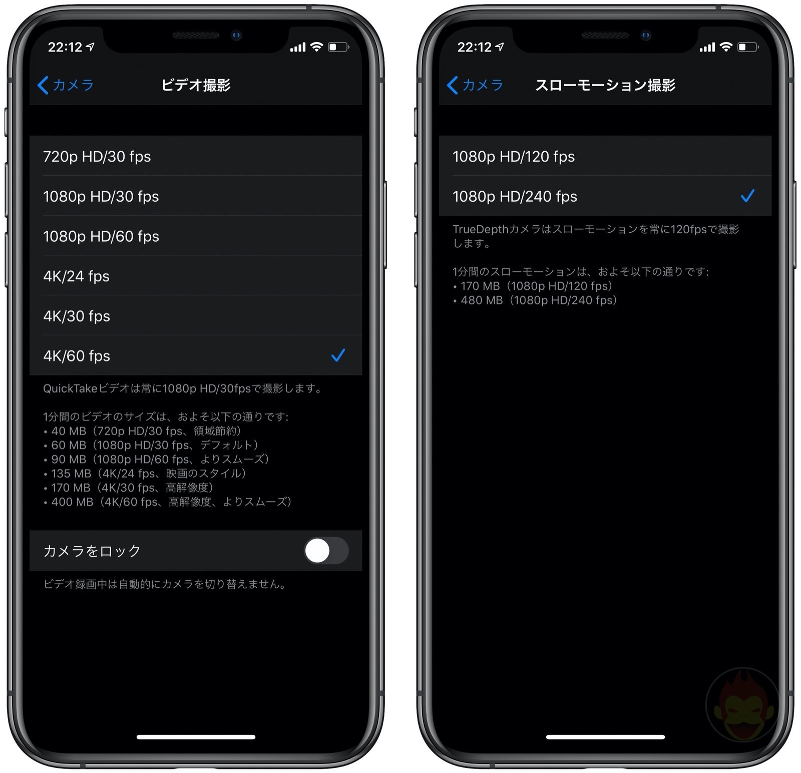 FrameRates for iphone11pro camera 01
