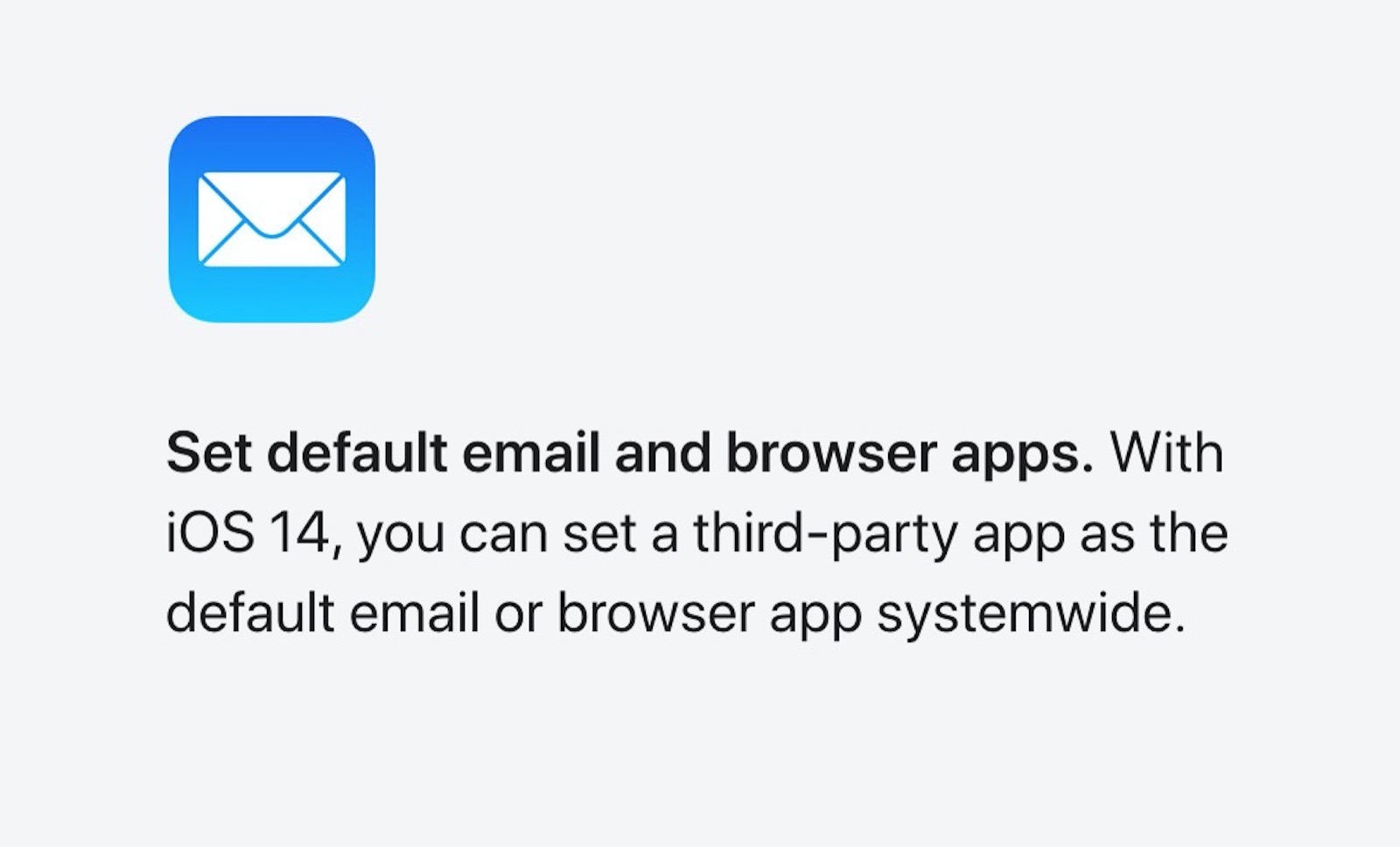 Default apps for mail and browser