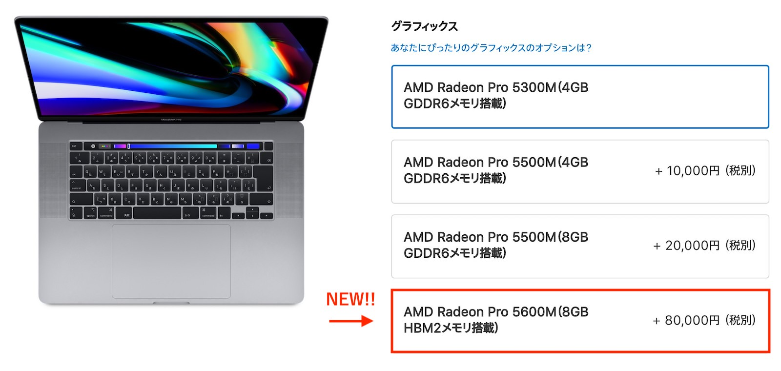 Macbook pro 16inch new gpu option 2