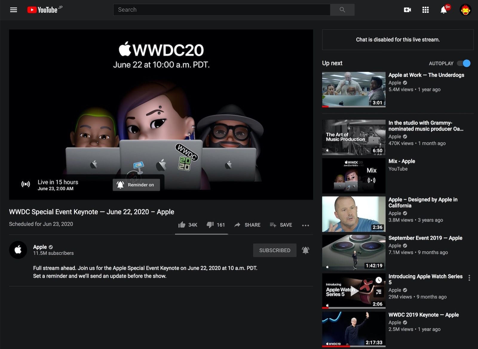 Wwdc20 live on youtube